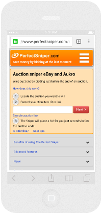 eBay - logging in using a token